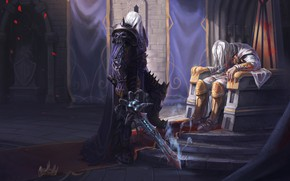 Picture King, WOW, Lich King, Warcraft, Blizzard, Paladin, Arthas, Frostmourne, Arthas, Illustration, Characters, WarCraft 3, The …