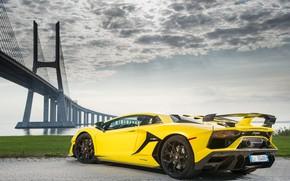 Picture bridge, Lamborghini, supercar, 2018, Aventador, Lisbon, SVJ, Aventador SVJ