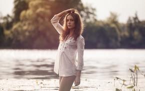 Picture water, girl, hair, legs, Kseniya Kokoreva, Yuri Yegorov