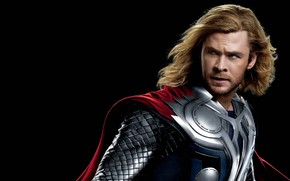 Picture armor, black background, Thor, Thor, Chris Hemsworth, Chris Hemsworth