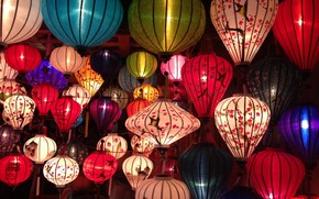 Picture Vietnam, lanterns, colorful, Viet Nam