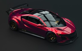 Picture tuning, Acura NSX, sports car, Javier Oquendo, The second generation, hybrid all-wheel drive coupe