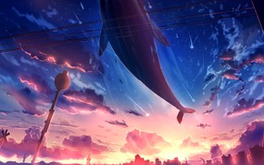Picture the sky, the city, fantasy, kit