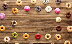 Picture background, tree, sweets, donuts