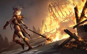 Picture girl, fire, fire, Legends of Runeterra