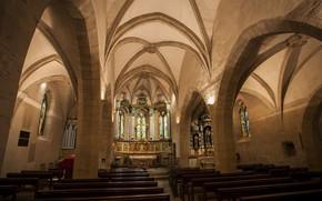Picture interior, interior, Averon, Aveyron, Эглиз д'Эстен, Церковь Сен-Флёре в Эстене, The Church of Saint Fleuret …
