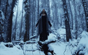 Picture winter, girl, snow, style, fantasy, image, is, nymph, snowy, photoart, Kindra Nikole
