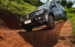 Picture sand, car, machine, Renault, the roads, Renault Duster