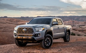 Picture photo, Grey, Toyota, Pickup, Car, Double Cab, TRD, Tacoma, Off-Road, 2020