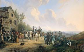 Picture oil, picture, canvas, 1835, Wouterus Verschuur, Ваутер Версхюр, Сцена Десятидневной Кампании Против Восставших