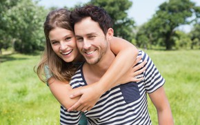 Picture summer, girl, happiness, nature, smile, pair, male, lovers
