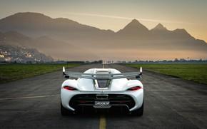 Picture mountains, Koenigsegg, hypercar, Jesko