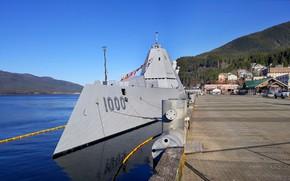 Picture pier, squadron, destroyer, Zumwalt
