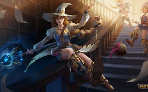 Picture girls, witches, Smite, The Morrigan