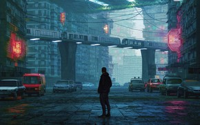 Picture The city, People, Machine, Street, Machine, City, Art, UNLIMITED FOG, by beeple, beeple