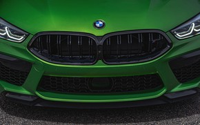 Picture coupe, BMW, grille, Coupe, 2020, BMW M8, two-door, M8, M8 Competition Coupe, M8 Coupe, F92
