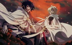 Picture guys, vampires, The Last Seraphim, Owari no Seraph