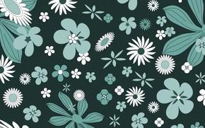 Wallpaper flowers, green, background