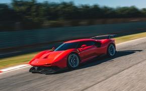 Picture machine, asphalt, movement, speed, Ferrari, sports car, track, P80/C