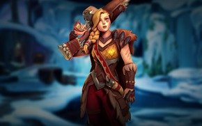 Picture girl, weapons, Paladins, Tyra