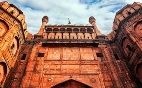 Picture gate, India, Delhi, Red Fort, Lal Qila