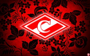 Picture Flowers, Red, Sport, Style, Logo, Football, Background, Emblem, Russia, Painting, Club, Khokhloma, Hockey, Spartacus, Football ...