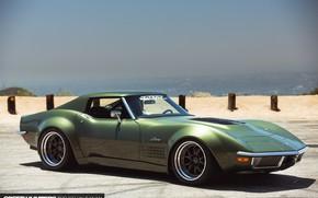 Picture Corvette, Green, Stingray, Widebody, Vehicle