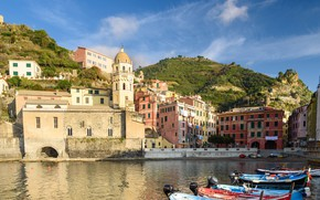 Picture tower, Italy, Vernazza, Liguria