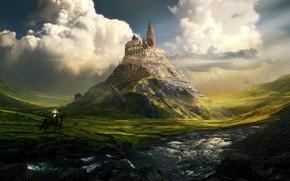 Picture River, Mountain, Rome, Colosseum, The building, Landscape, Architecture, Art, Art, Landscape, Mountain, Knight, Fiction, Fiction, …