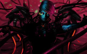 Picture Girl, Fantasy, Art, Illustration, Concept Art, Characters, Science Fiction, Cyberpunk, Storytelling, by Pedram Mohammadi, Pedram ...