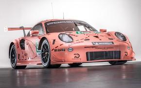 Picture pink, 911, Porsche, racing car, RSR, 2018