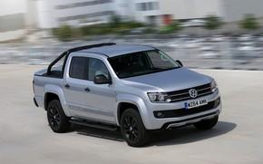 Picture movement, Volkswagen, pickup, Amarok, 2014, UK Version, Dark Label