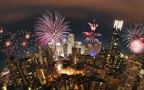 Picture home, salute, Canada, fireworks, Toronto, Canada Day