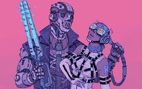 Picture Girl, Robot, Wire, Glasses, Girl, Fantasy, Art, Art, Robot, Robots, Mechanisms, Fiction, Cyborg, Sci-Fi, Cyberpunk, …