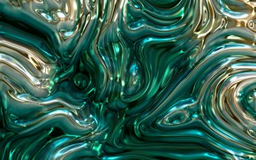 Picture line, metal, abstraction, green, bubbles, Shine, structure, Golden, metallic, substance, plasma, melting, brilliant, emerald, diffusion, …