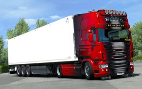Picture the game, truck, Euro Truck Simulator 2, SCS Software