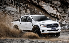 Picture white, Ford, pickup, Storm, Ranger, 2020