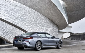 Picture coupe, BMW, structure, Gran Coupe, 8-Series, 2019, the four-door coupe, Eight, G16, steel gray