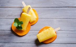 Picture ice cream, peaches, peach, ice cream, fruit ice