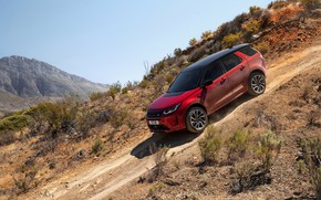 Picture mountains, the descent, Land Rover, primer, crossover, SUV, 2020, Discovery Sport