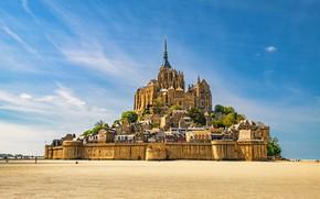 Picture castle, France, Mont-Saint-Michel