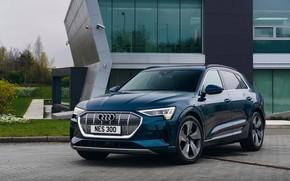 Picture Audi, the building, E-Tron, 2019, UK version