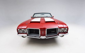 Picture Red, Classic, Muscle car, Convertible, Vehicle, Oldsmobile 442