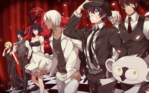 Picture anime, art, guys, Tink Of The Sensen, the front of the bloody siege