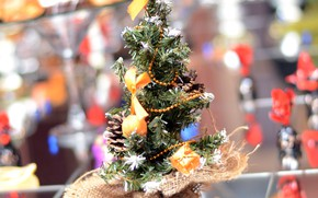 Picture balls, holiday, new year, tree, decoration