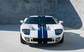 Picture White, Sports car, American car, 2005 Ford GT