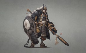 Picture Japan, Monster, Armor, Style, Warrior, Weapons, Japan, Monster, Art, Art, Style, Warrior, Spear, Shield, Fiction, …