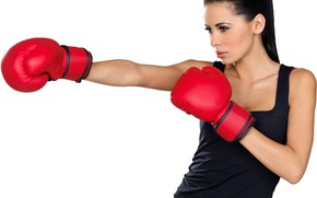 Picture pose, figure, Boxing, blow, gloves, stand, training, workout, gym, training, Boxing