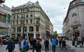 Picture The city, Area, House, Pedestrians