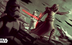 Picture Star Wars, Sword, Fantasy, Art, Lightsaber, Sith, Stormtroopers, Characters, Stormtroopers, Stormtrooper, Kylo Ren, Imperial stormtroopers, …
